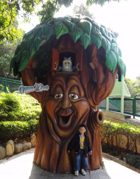 The talking tree which really amazed the lil boy