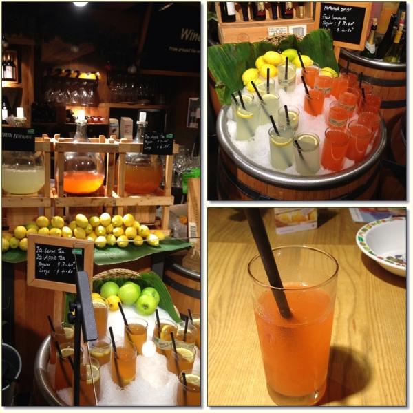 My choice : strawberry lemonade (bottom right). Slurp......very fresh.....I liked it