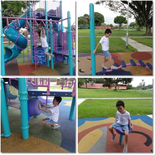 This quiet and clean playground.........only us were there