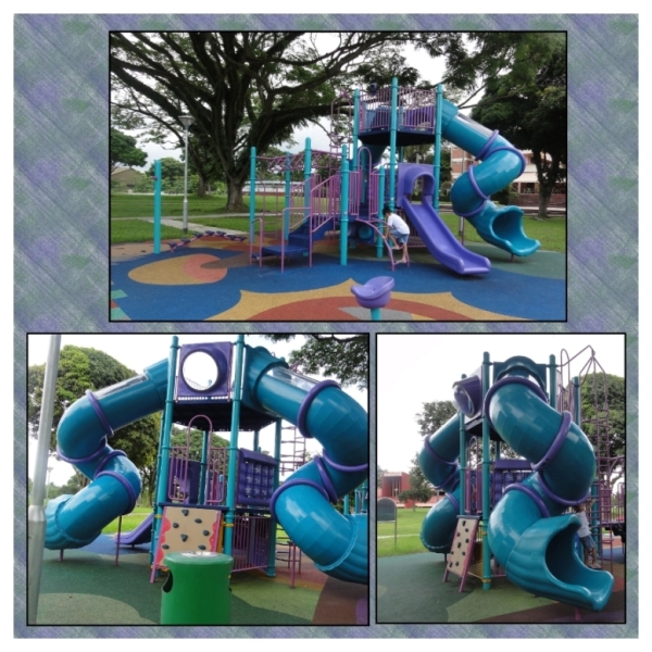 The playground outside Changi Beach Park