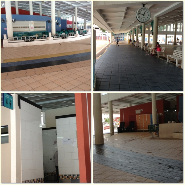 The canteen (top left picture)-all closed but can be used for picnic, the waiting lounge (top right picture), children changing room (bottom left picture), and 20 cents locker room (bottom right picture)