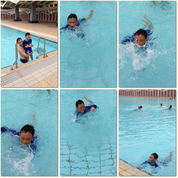 Swimming in the wadding pool