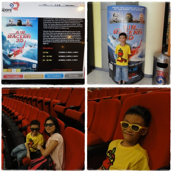 Air Racers 3D Movie Singapore Discovery Center