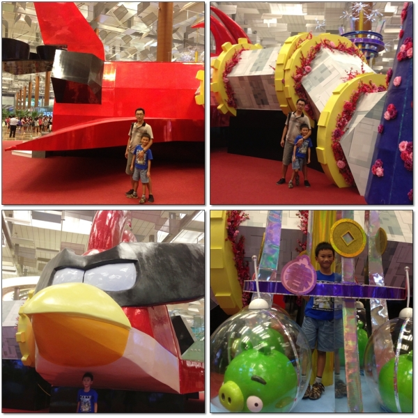 Big Angry Bird Plane in Departure Hall Changi Airport Terminal 3 (2nd Floor)