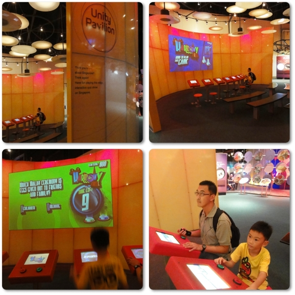 Unity Pavillion is the place where you must solve a puzzle by answering questions about Singapore culture