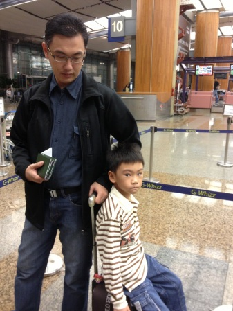 Arriving in Changi Airport