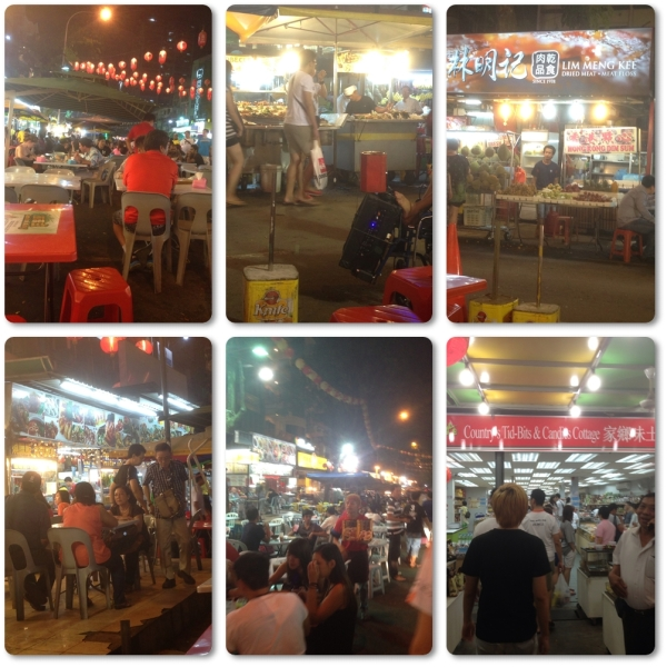 Night street food market at Jalan Alor