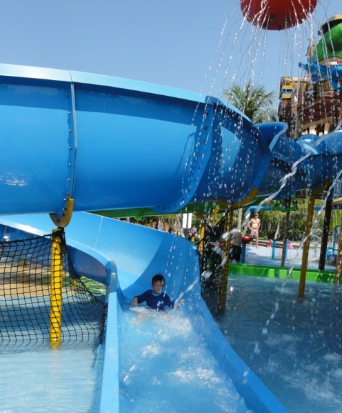 Blue open slide
