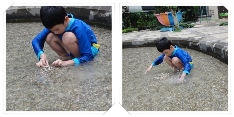 This shallow pool with sand and rocks was absolutely the children's favorite place to play