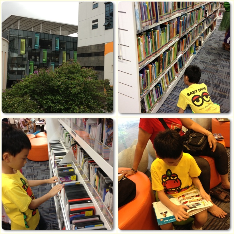 Bishan Library also has the whole basement floor for children. Their collection of children books and dvd are also awesome