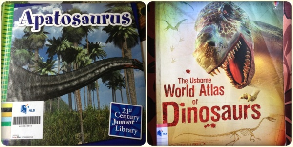 Books about dinosaurs......