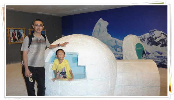 Don't forget to take pictures with this igloo