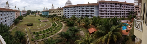 The view of half the resort from our balcony