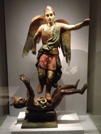 Archangel Michael vanquishing Satan (from Vietnam)