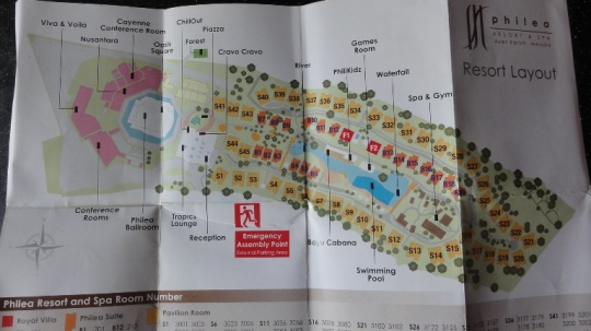 The hotel map