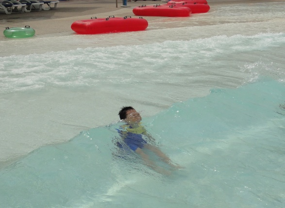 A new way to enjoy the wave pool
