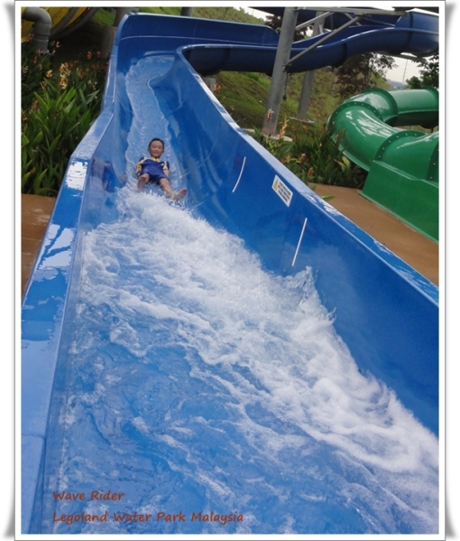 Sliding down in Wave Rider Slide for.............I don't even know how many times!