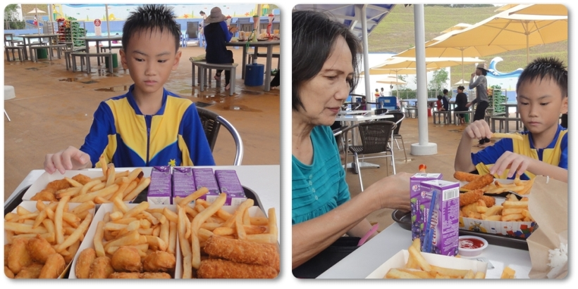 Each package (nuggets/fish with fries and Ribena drink) for RM 15. The price of the food was still quite reasonable