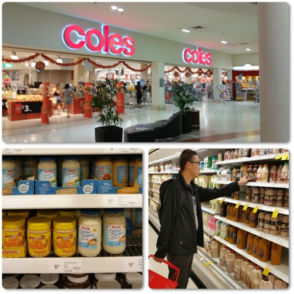 Shopping at Coles