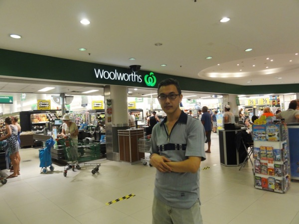 First grocery shopping at Woolworths