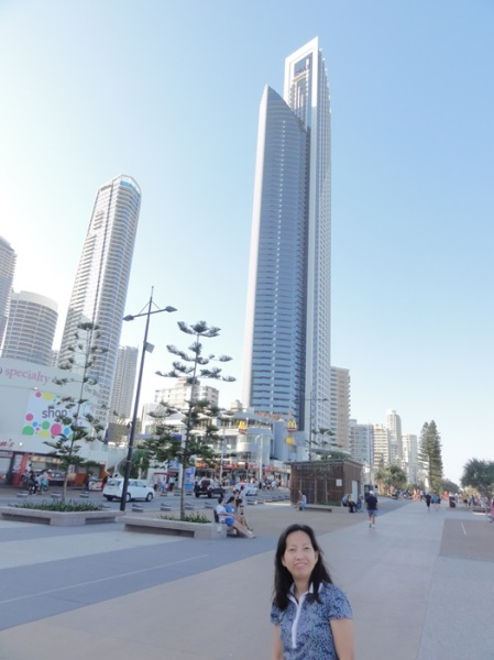 Tall buildings opposite the beach