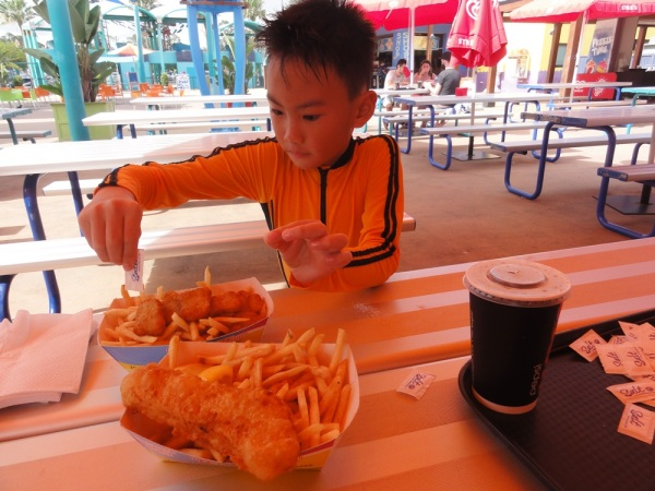 Yap, another fish and nuggets and chips.