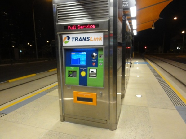 Go Card top up station in the tram station
