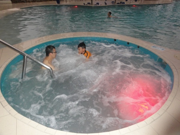Jacuzzi with hot water