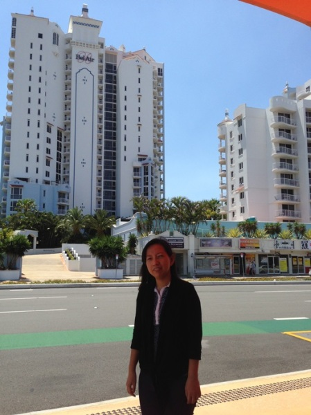 The view in front of Broadbeach Station