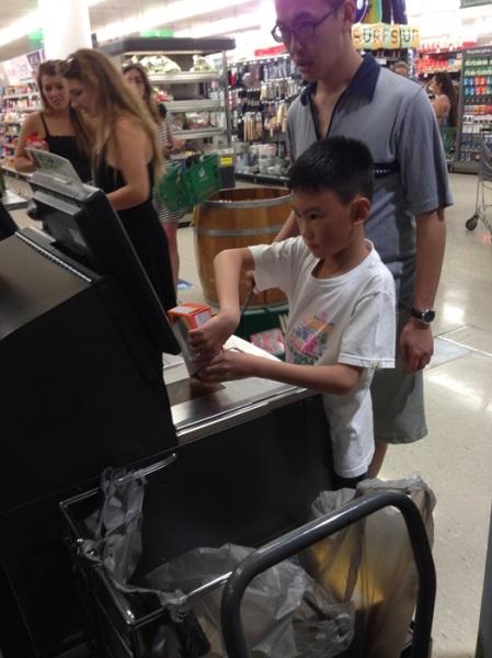 Self service cashier