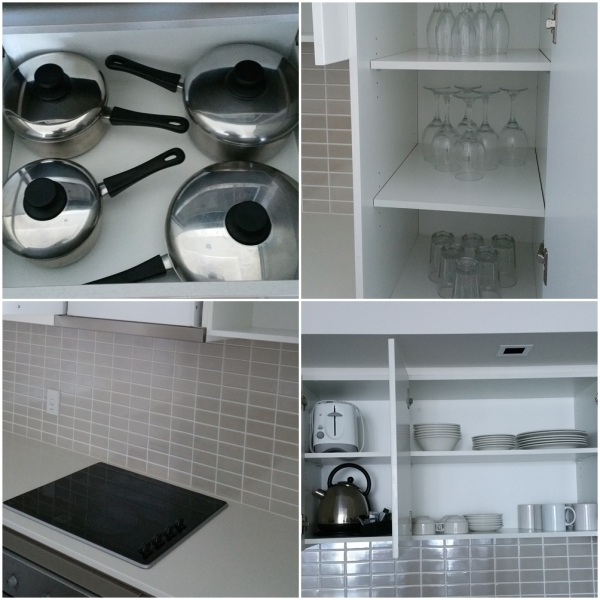 Everything was prepared: clean fridge, electrical stove and oven, microwave, bread toaster, cutlery, knives, etc
