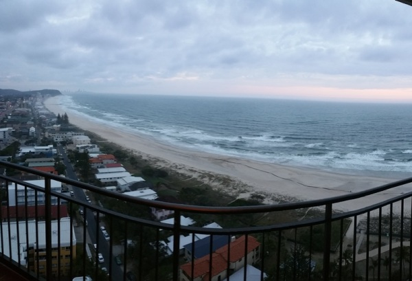 Sea view from our balcony at 5 am