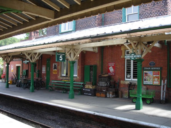 "This train station is so pretty and classic. Taken from the movie ""MRS. MCGINTY'S DEAD THE BLUEBELL RAILWAY, EAST SUSSEX"
