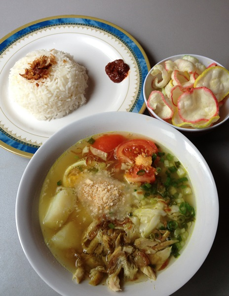 My first time making soto