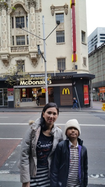 Mc Donald was also near where we stayed. Even the building on top of Mc Donald was
