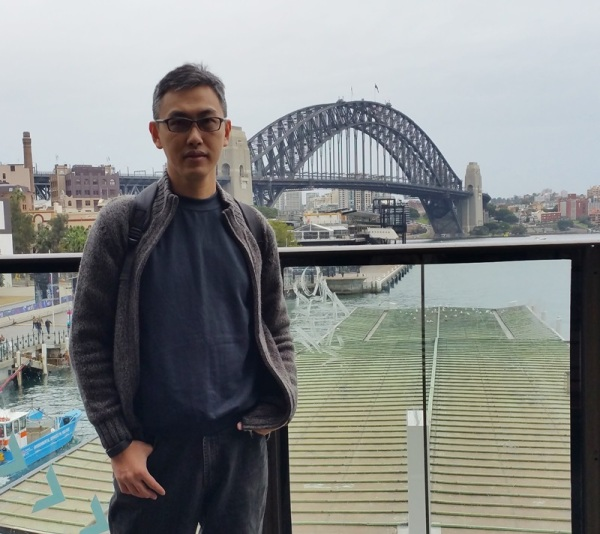 Sydney bridge on one side