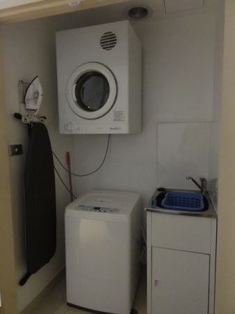 The laundry room next to the bathroom...........where no one else except me wanted to spend time in here, hahaha.........
