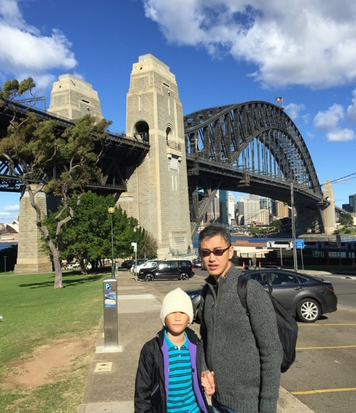 We were so close to Sydney Bridge. Look at the