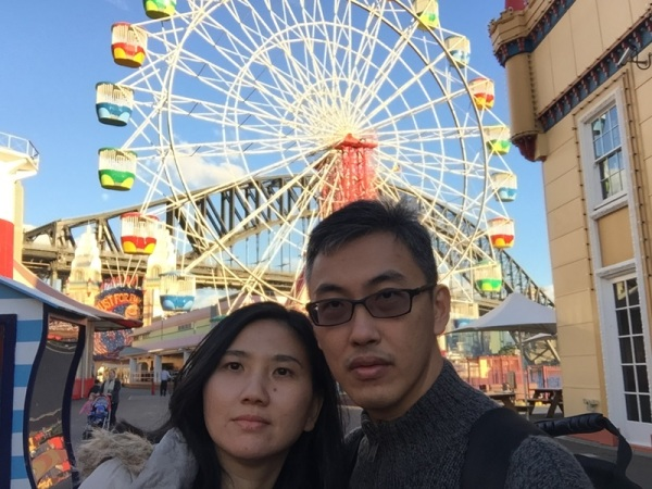 The Ferris Wheel was actually not really high..........but still scary, hahaha...........