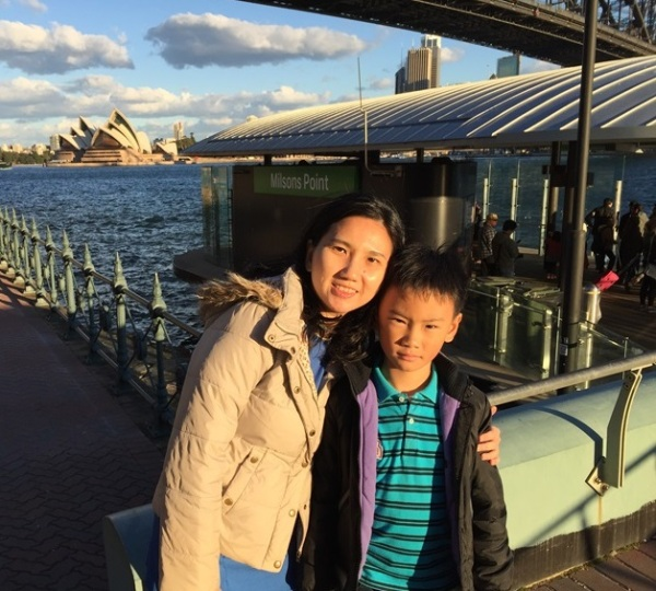 Me and the lil one who loved Luna Park so much and considered it as his favorite place in Sydney