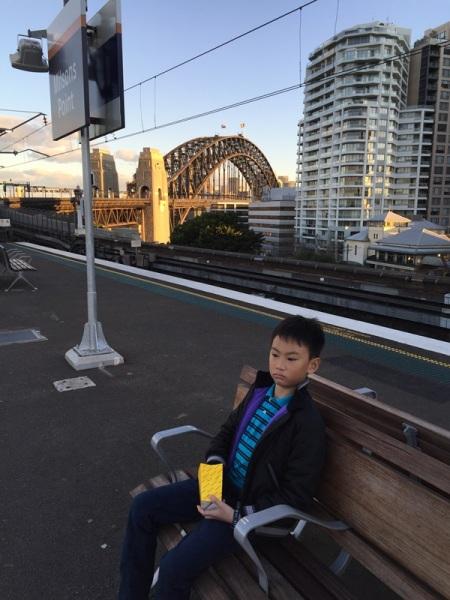 Milsons Point train station overlooking the Sydney bridge