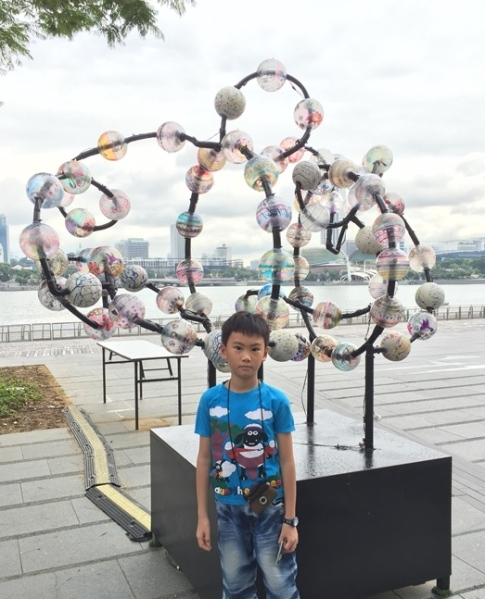 We went to Marina Bay Sands the previous day,