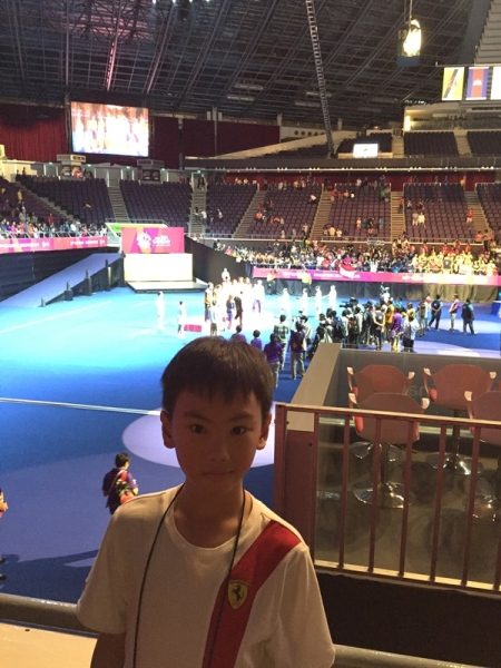We waited to see the medal ceremony even though most of the spectators already gone by then