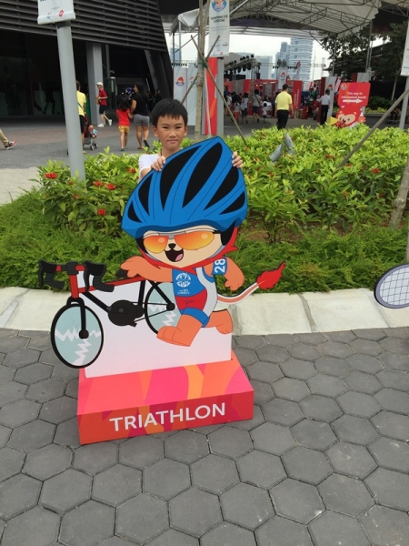 Nope, he said he was not interest in joining triathlon.........