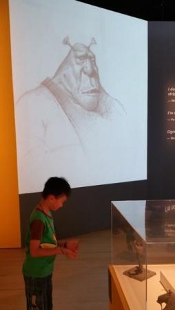 Shrek Character in 2D drawing