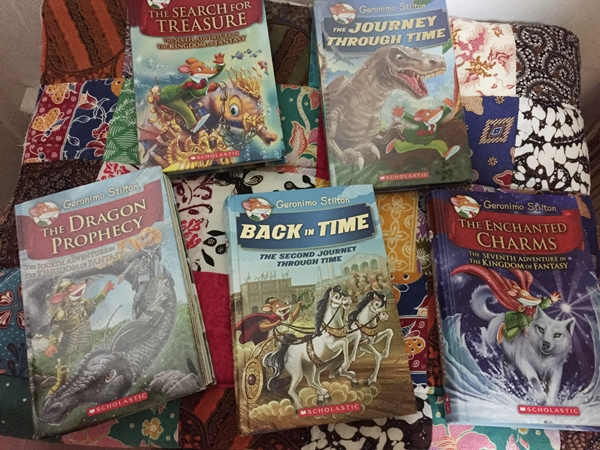 Some books from his Geronimo Stilton collections