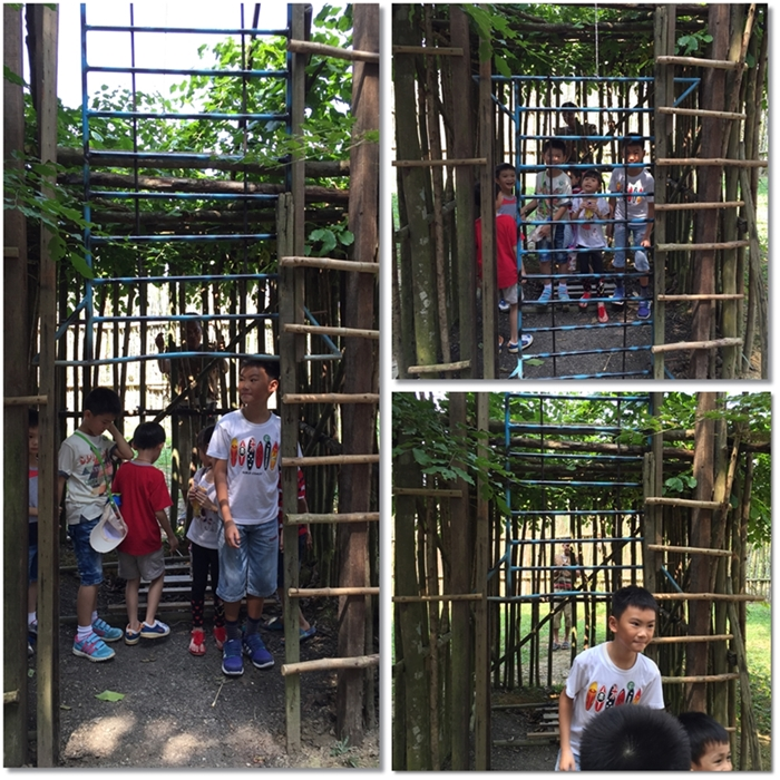 The kids also had extra fun in this trap cage