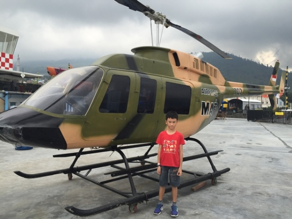Amazingly, he asked to take picture in front of this chopper