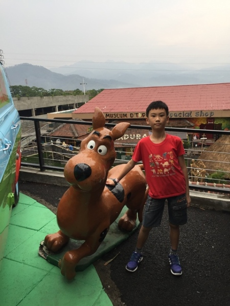 but this one is..........the boy with his favourite dog.......Scoobydoo.......
