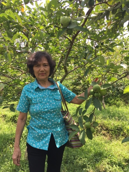 My mother, who flowers and fruit trees